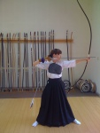 Practicing Kyudo, Japanese way of the bow