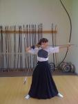 Practicing Kyudo, Japanese way of the bow